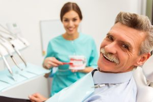 Smiling senior man at Joplin dentist office