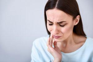 woman TMJ pain